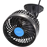 """Car Fan 12V 4.5"""" Electric Car Cooling Fan with 360 Degree Adjustable That Plugs into Cigarette Lighter/Low Noise Automobile Vehicle Fan for Car Truck Van SUV RV Boat"""