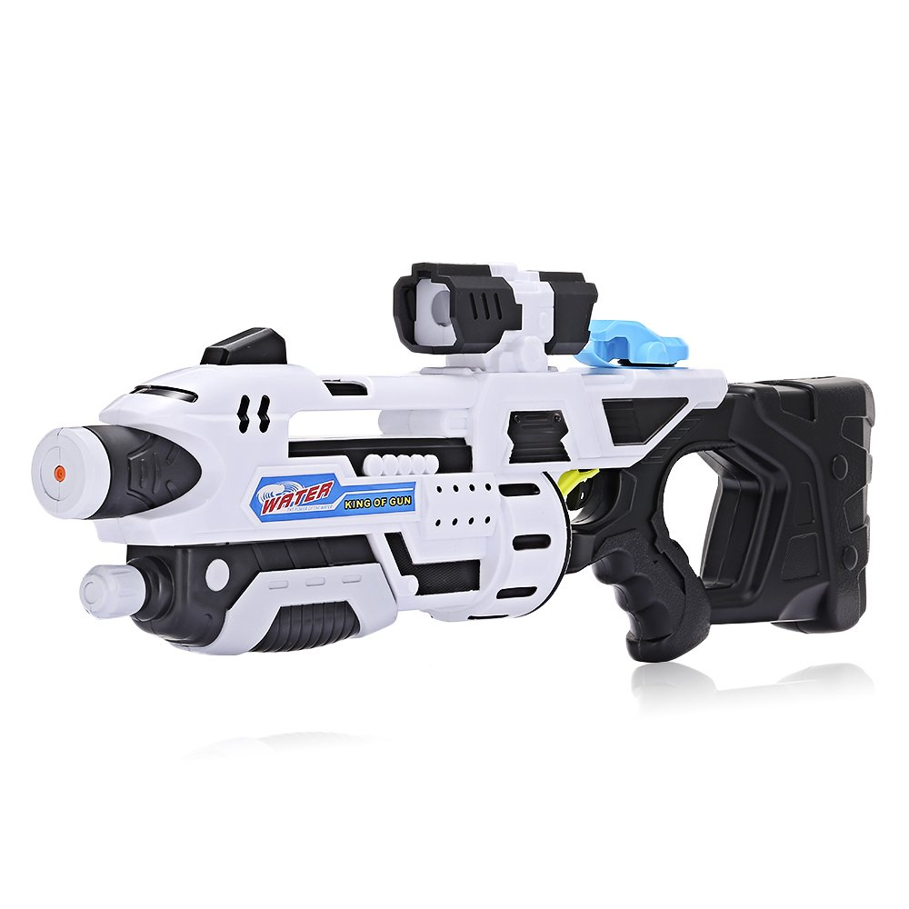 Kidsidol Water Blaster Gun Toy High-pressure Large-capacity Long-range for Water Fight Swimming Pool Beach Party Toys Great Summer Toys Suitable for Adult and Kids Above 6 Years (Black)
