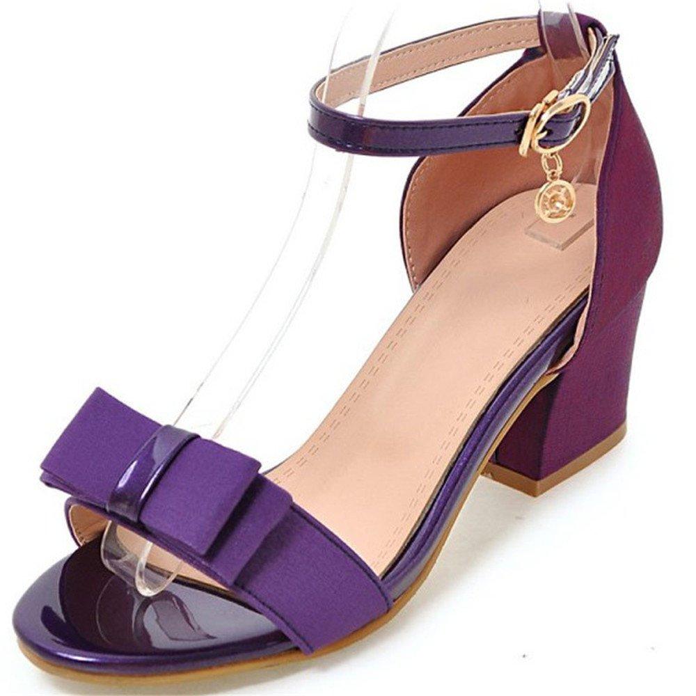 Mesdames été B07BQD389Q Grande Hauts Taille Sandales Talons à Talons Hauts Purple 62bbd1e - shopssong.space