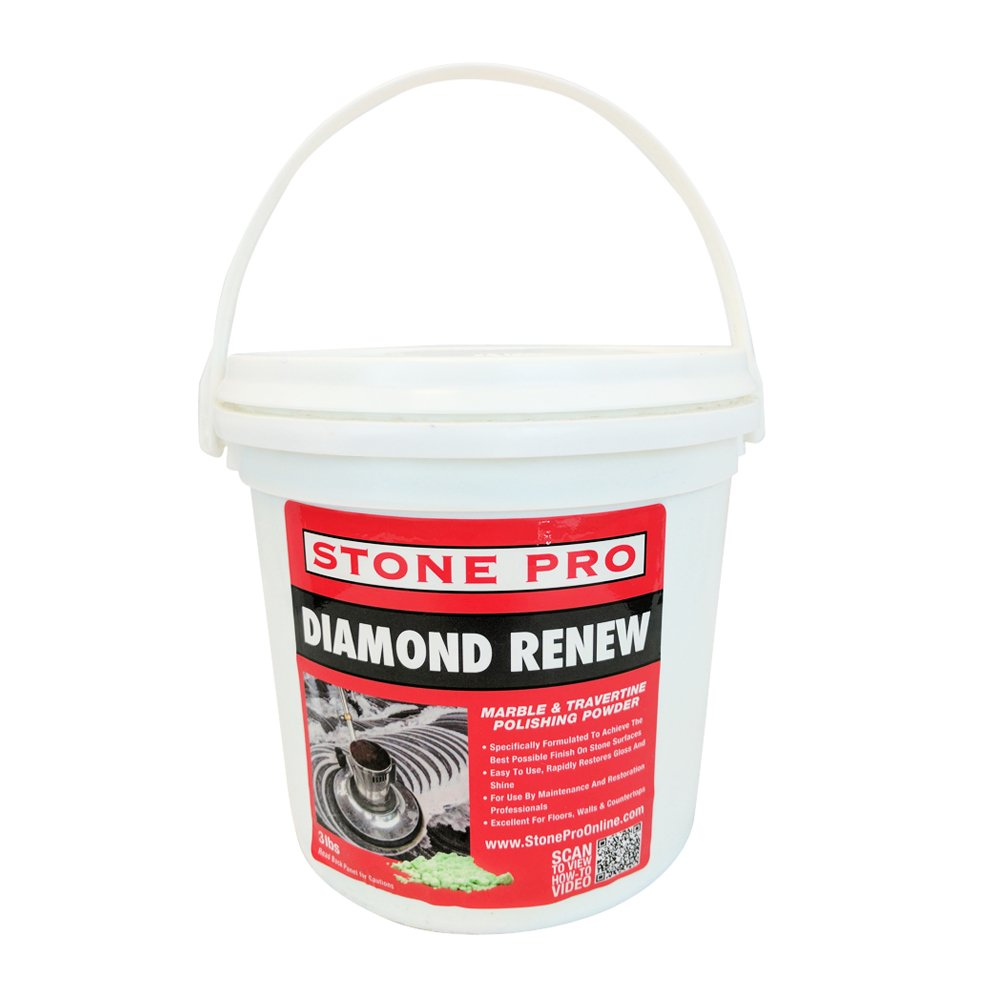 Stone Pro Diamond Renew - Marble and Travertine Polishing Powder - 3 Pound by Stone Pro