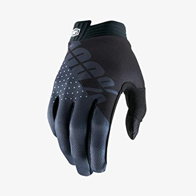 100% iTrack Men's Off-Road Motorcycle Gloves - Black/Charcoal/Medium: Automotive