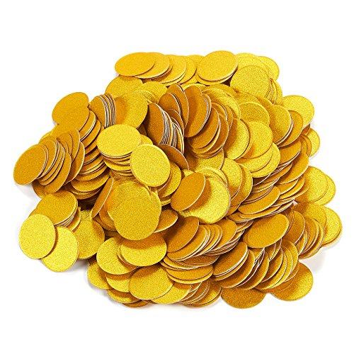 500-Piece Gold Circle Cutouts Confetti Paper Set - Biodegradable Round Dot Shaped Confetti, Gold Glitter Confetti for Weddings, Crafts, Eco-Friendly Bachelorette Party Decoration - 1.2 - Stock Glitter