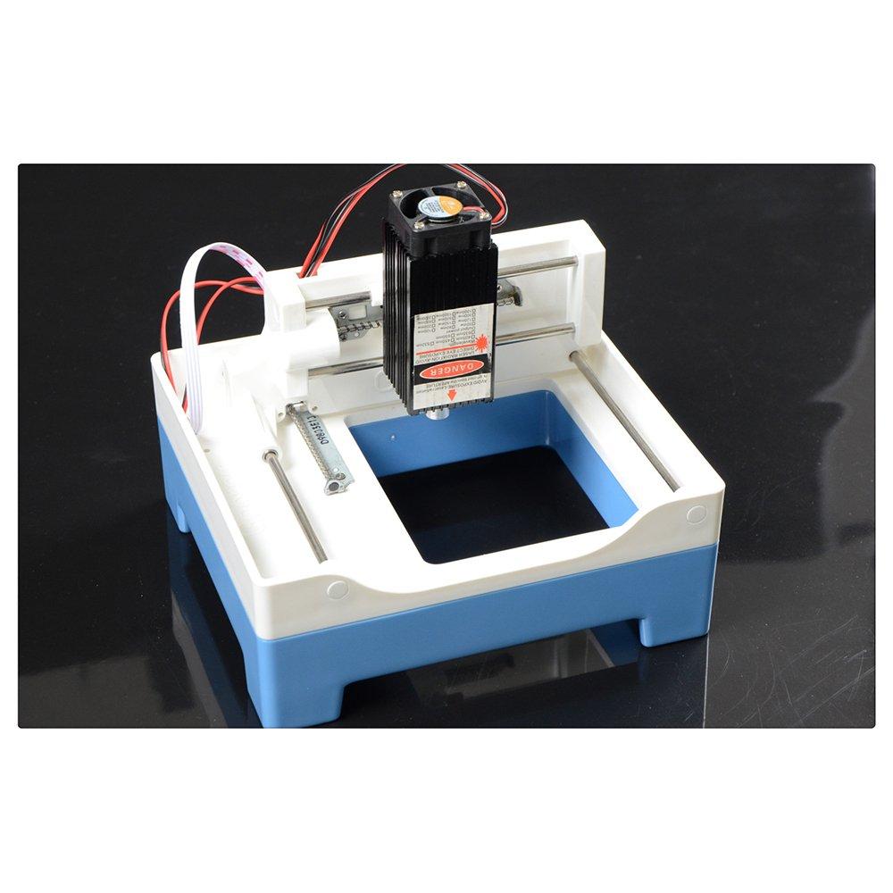 DIY Laser Engraving Machine Bricolaje Máquina de Grabado Láser 2000mW Plotter de Corte Mini Máquina de Grabado Pequeño Sello Maquina de Cortar: Amazon.es: Industria, empresas y ciencia