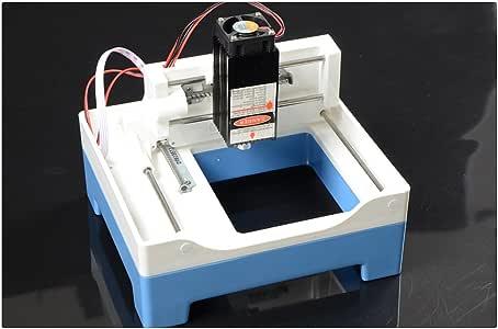 DIY Máquina de Grabado Láser Omnipotente Plotter de Corte 2000mW Mini Máquina de Grabado Pequeño Sello de la Máquina de Corte: Amazon.es: Bricolaje y herramientas