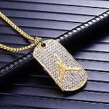 Mgutillart Hip Hop 18K Gold Plated Titanium Steel