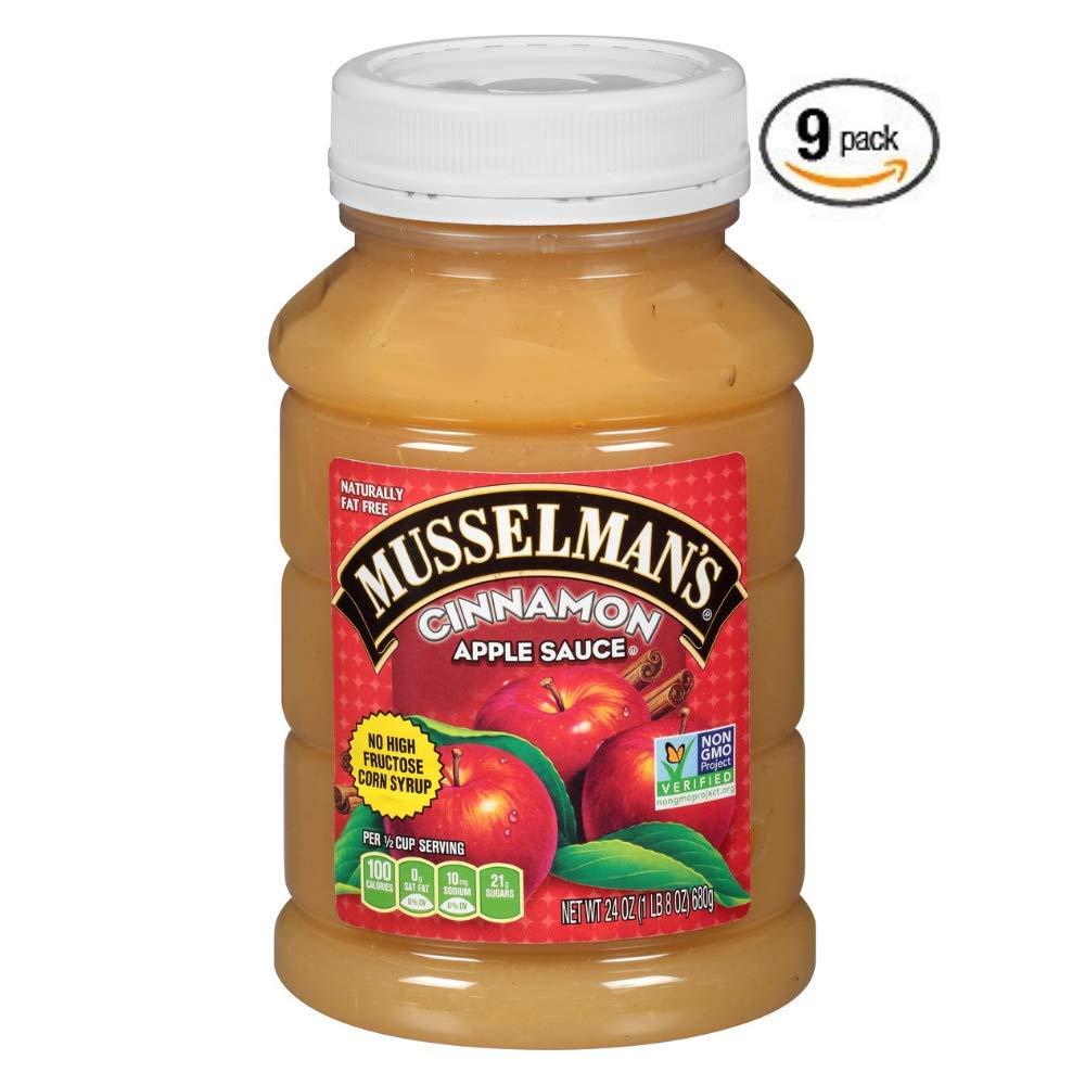 Musselman's Cinnamon Apple Sauce, 24 Ounce (Pack of 9) by Musselmans