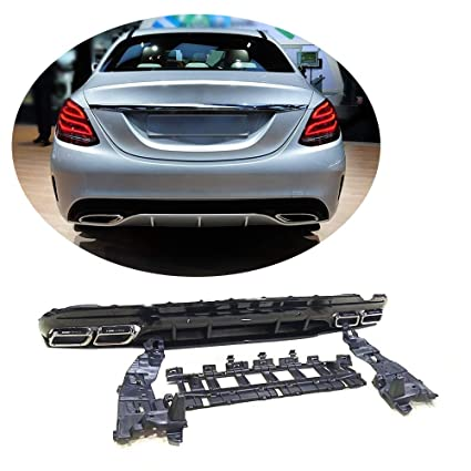 Amazon com: MCARCAR KIT Rear Diffuser fits Mercedes Benz C