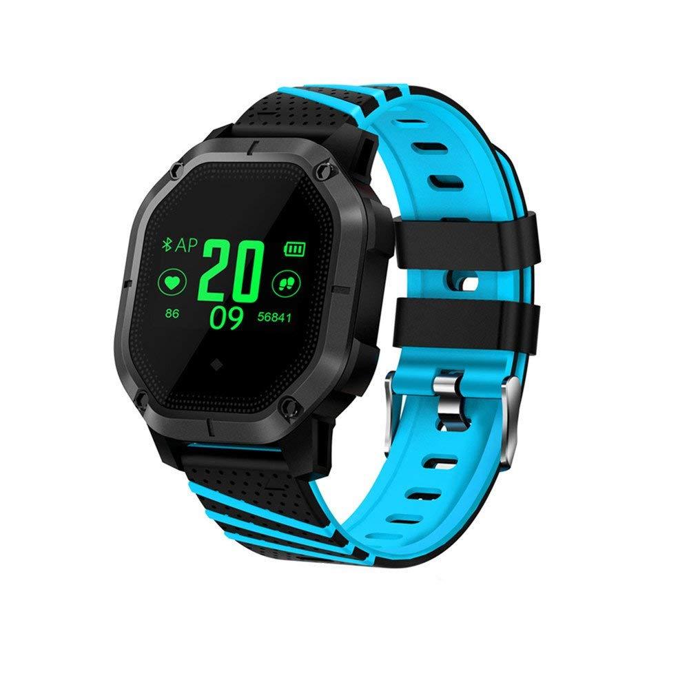 Jennyfly Sport Watch, IP68 Swimming Waterproof Riding Smart Wrist Multiple Sports Modes Fitness Tracker Wristwatch Heart Rate Blood Oxygen Pressure Monitor Fitness Bracelet for Andriod iOS - Blue