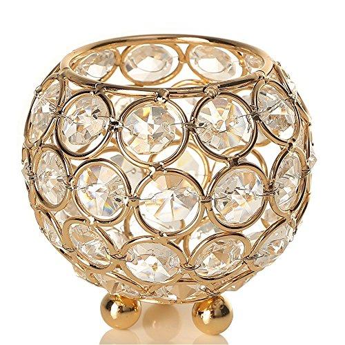 VINCIGANT Halloween Gold Decorative Candle Lantern/Tealight Hoders for Thanksgiving Dinning Room