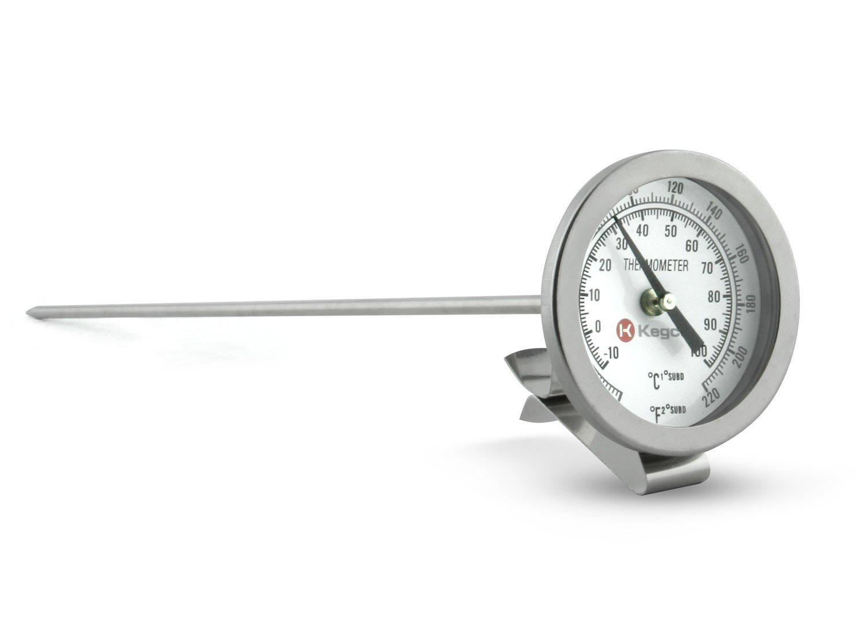 "12/"" Thermometer Probe Brew Kettle Pot Monitor Boil Temperature Measuring Dial"