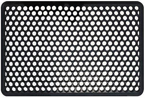 Shepherd Hardware Indoor/Outdoor Recycled Rubber Floor Mat - 22 x 34-Inches, Black