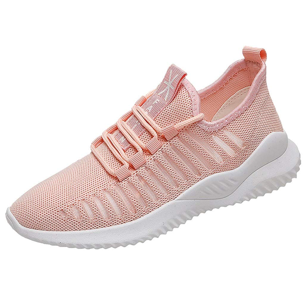 New 2019 Haalife◕‿Women's Breathable mesh Sneakers Slip On Lightweight Casual Running Shoes Pink