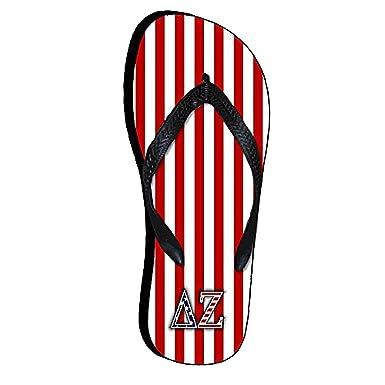 7cc129ed23da Amazon.com  Greekgear Delta Zeta American Flag Flip Flops Small ...