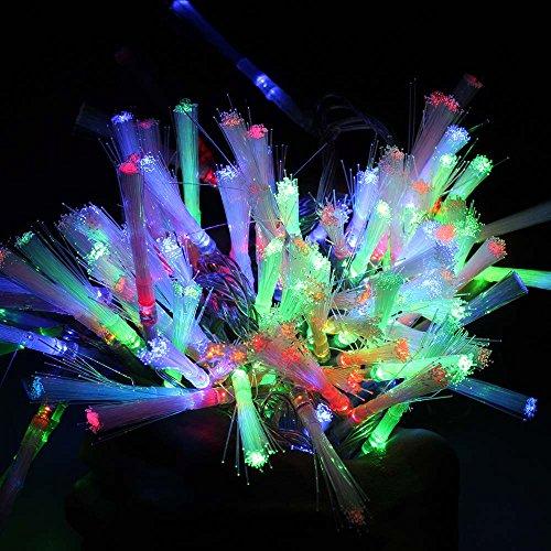 Fiber Optic Blossom Led String Lights Plug In Multi Color : Fiber Optic Decoration - Collectibles