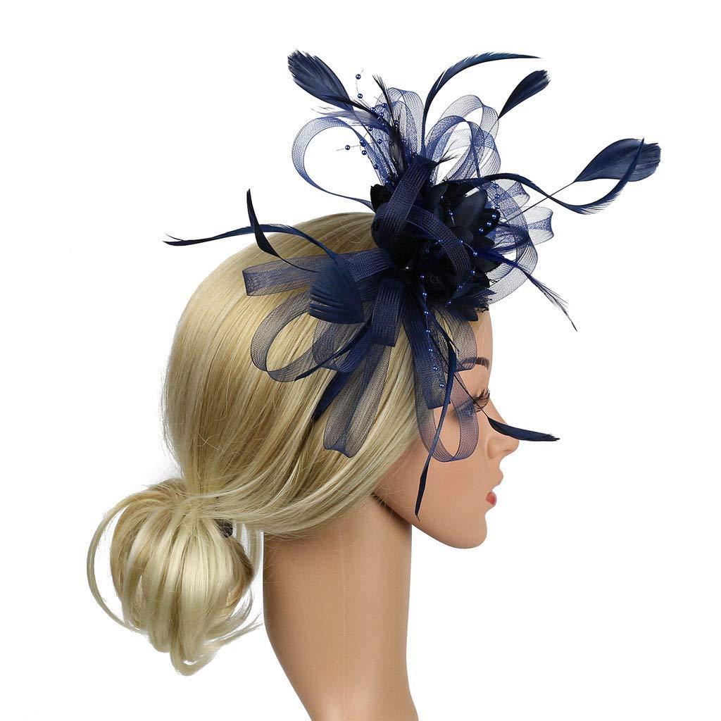 UJUNAOR 1920s Damen Stirnband mit Feder 20er Jahre Stil Haarband Gatsby Kost/üm Accessoires
