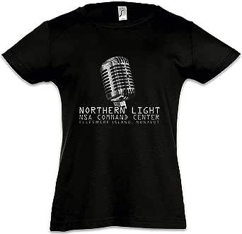 Urban Backwoods Northern Light Camiseta para Niñas Chicas niños T-Shirt Black