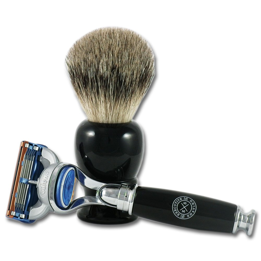 Executive Shaving Deluxe Fusion Travel Shaving Set In Black