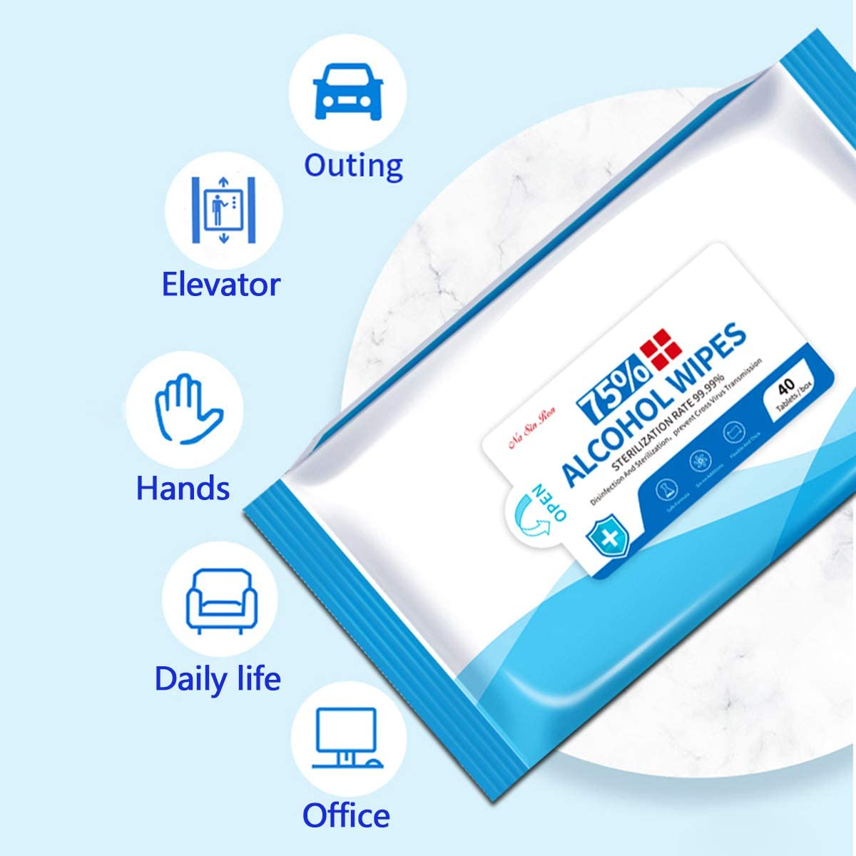 Disposable Wipes Suitable for Daily Use,Travel,Cleaning Cloths 20 * 14.5cm 40 PCS Wet Wipes Per Pack,Hand Refreshing Wipe Hand Wet Wipes Large Size