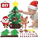 DIY Felt Christmas Tree Xmas Ornaments Decoration Set Craft Activities Kits Decor Toy Gift for Kids Toddler