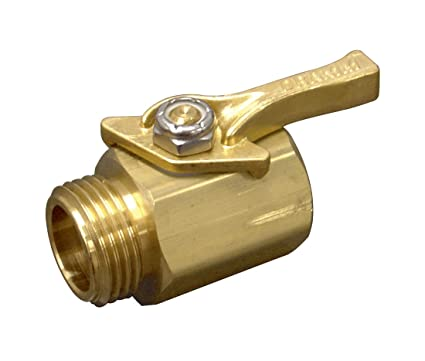 Amazoncom Dramm 12353 Heavy Duty Brass Shut Off Valve Garden