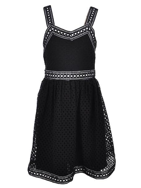 e96c52bf5af Bonnie Jean Big Girls' Plus Size Dress - black/white, 16.5: Amazon ...