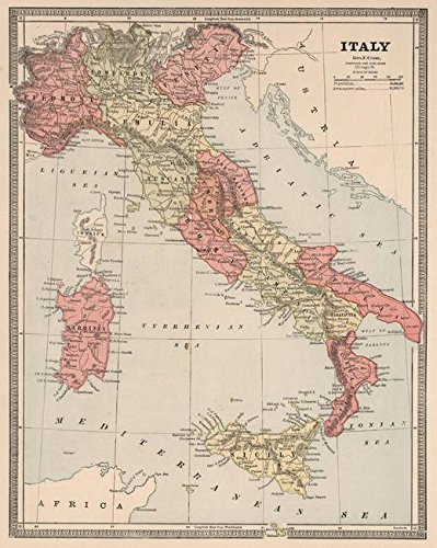 photo about Printable Maps of Italy identified as : Wall Artwork Print Enled Traditional Map of Italy