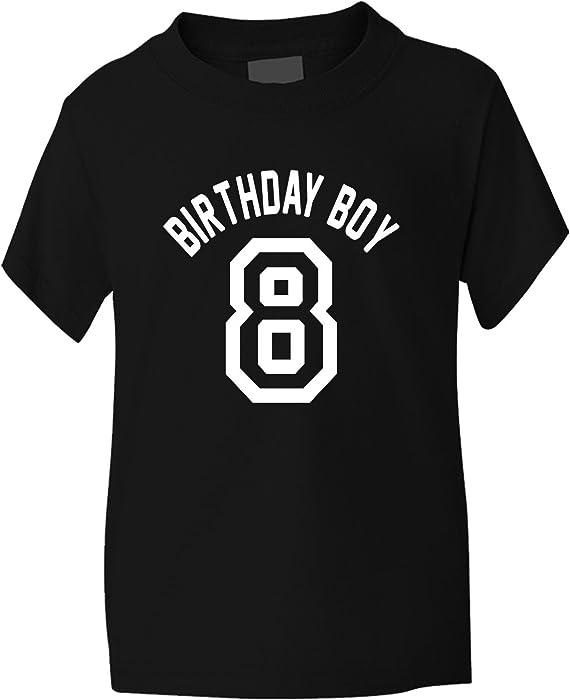 Birthday Boy Age 8 Kids T Shirt Gift 1 2 Black Amazonco