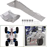NIXFACE Full Chassis Glide & Swing Arm Skid Plate Gaurd Combo Fit for 1987-2006 YAMAHA BANSHEE 350 ATV