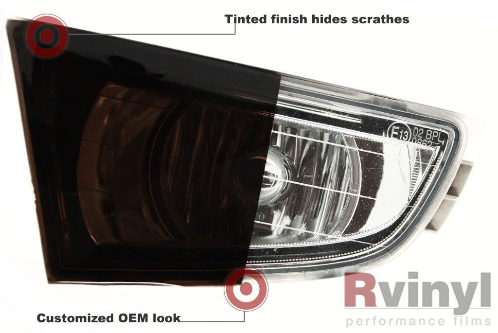 36 x 12 Blackout Smoke Rtint Smoke Tint Tinted Gloss Vinyl Film Cover Wrap Sheet