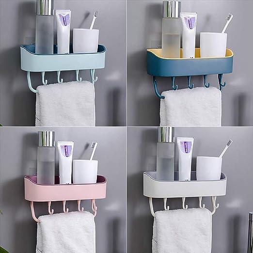Storage Shelf Bathroom Rack Toilet Punch Free Organizer Wall Mounted