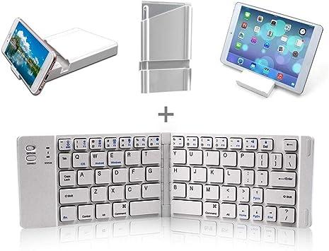 Teclado Bluetooth Plegable MiniTeclado Bluetooth Plegable De ...