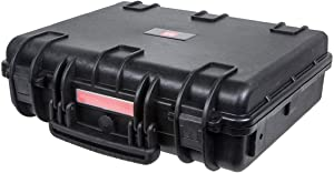 """Monoprice Weatherproof/Shockproof Hard Case - Black IP67 Level dust and Water Protection up to 1 Meter Depth with Customizable Foam, 19"""" x 16"""" x 6"""""""