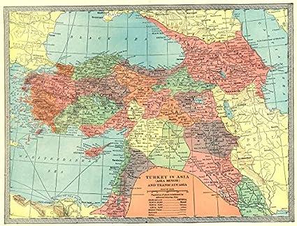 Amazon.com: Turkey in Asia. Transcaucasia Levant Georgia ...