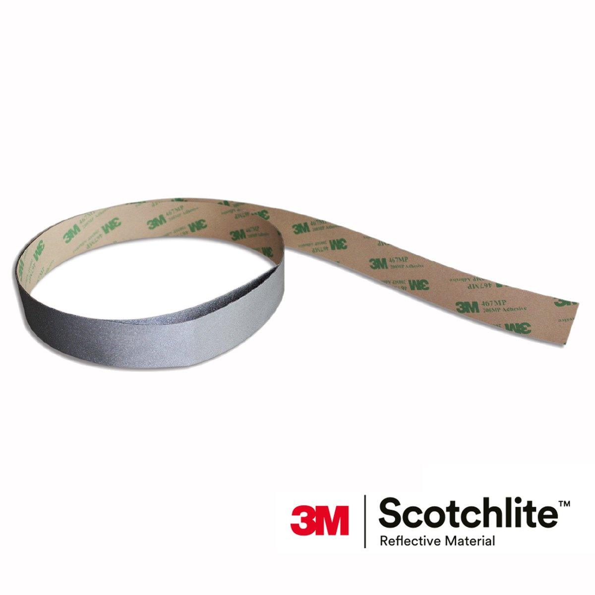 Salzmann 3M Scotchlite Reflective Sticker, High Visible Reflective Sticker, Silver, 1'' x 39'', 1 Roll