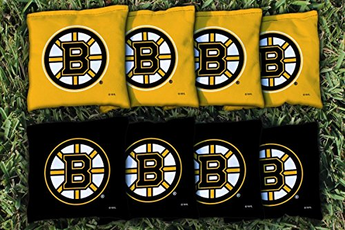Victory Tailgate 8 Boston Bruins NHL Cornhole Game Bag Set (8 Bags Included, Corn-Filled)