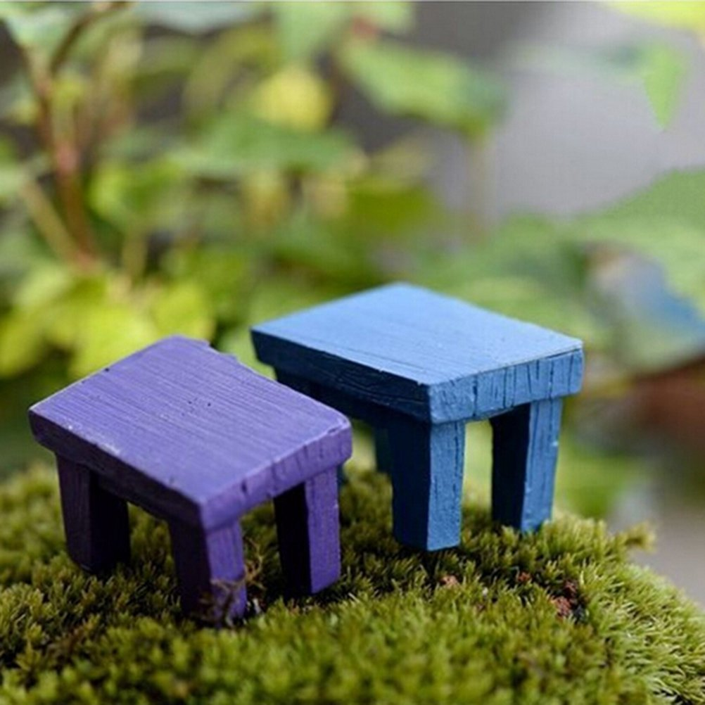 8 Pieces Miniature Fairy Garden Ornament Tables Chairs Furniture Ornament Dollhouse Plant Pot Figurine DIY Outdoor//Indoor Decoration by DINGJN