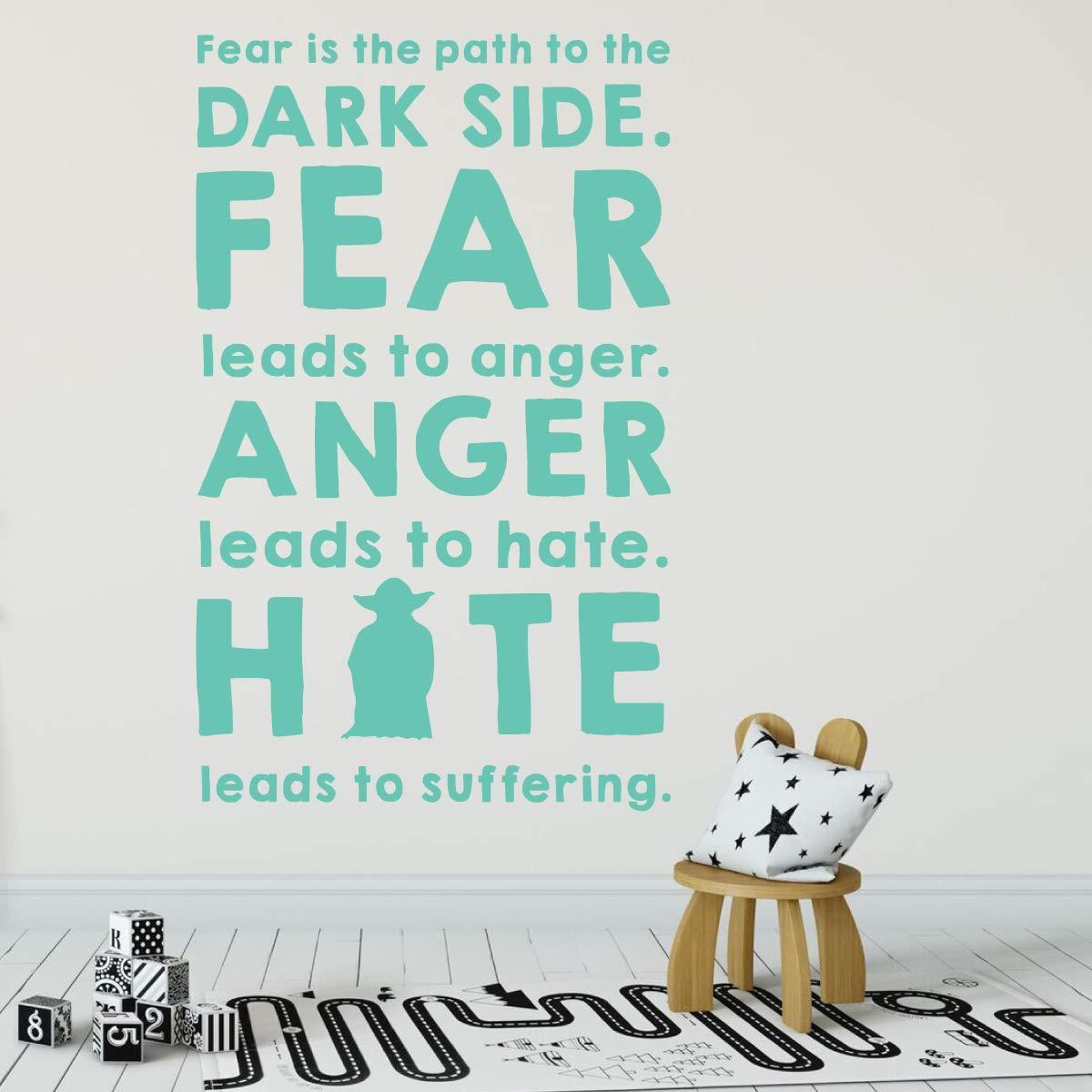 Amazon Yoda Fear Anger Hate Suffering Dark Side Quote Vinyl