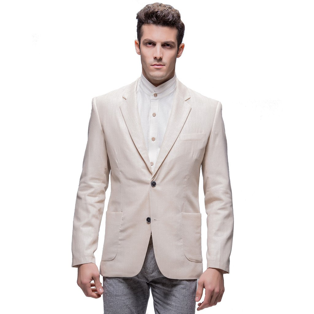 E-artist Men's Slim Fit Casual Linen Blazer Jackets Suit X04