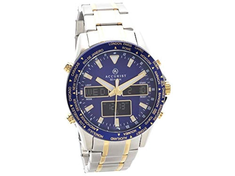 Reloj de pulsera para hombre con cronógrafo de dos tonos de precisión 7042