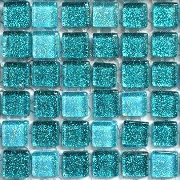 Glas Mosaik Fliesen, 1 X 1 cm, Glitter, Cm... Türkis Mix - 108 ...
