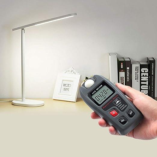 DragonPad Digital Lux Meter 200000 Lux Digital LCD Pocket Light Meter Lux FC Measure Tester with 4 Digit LCD Screen MT-30 Black