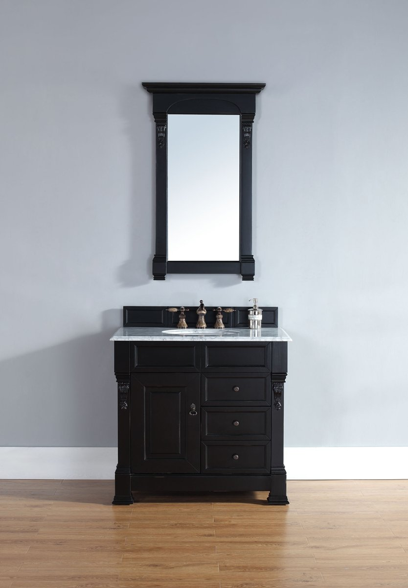 Single Cabinet with Drawers in Antique Black Finish: Home Improvement - Amazon.com: 36 In. Single Cabinet With Drawers In Antique Black