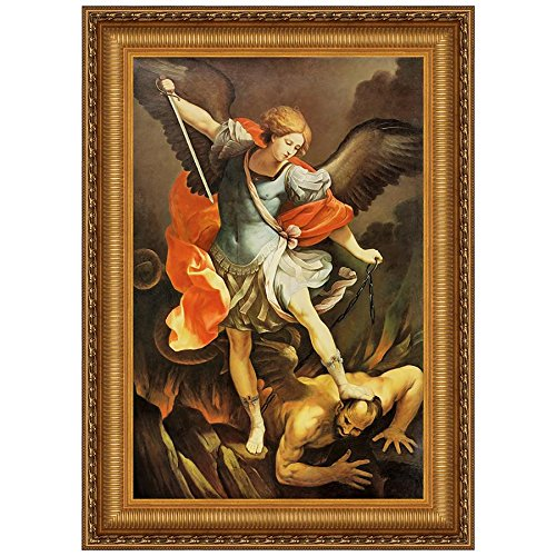 Design Toscano Archangel St. Michael Canvas Replica Painting: Grande - Canvas Replica Painting
