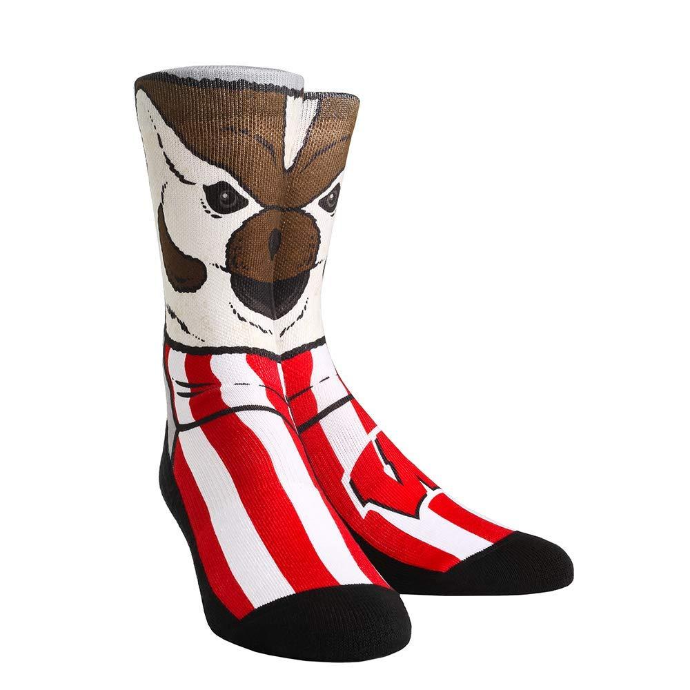 NCAA Wisconsin Badgers Custom Athletic Crew Socks
