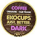 EKOCUPS Organic Artisan Coffee, Dark, Dark roast for Keurig K-cup single serve Brewers, 0.45 Ounce, 10 count