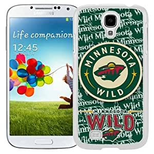 Beautiful Samsung Galaxy S4 Case ,Unique And Lovely Designed With Minnesota Wild 5 White Samsung Galaxy S4 Phone Case