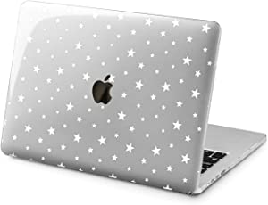 "Cavka Hard Shell Case for Apple MacBook Pro 13"" 2019 15"" 2018 Air 13"" 2020 Retina 2015 Mac 11"" Mac 12"" Design Laptop Basic Nice Print Cover Protective White Stars Simple Plastic Magic"