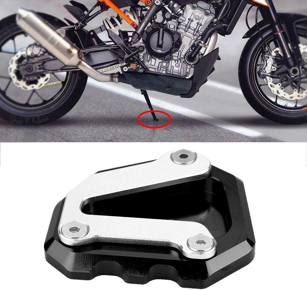 Almohadilla de soporte lateral de motocicleta Color : Black almohadilla de extensi/ón de placa de soporte lateral de motocicleta CNC for KTM 790 DUKE 2018-2019