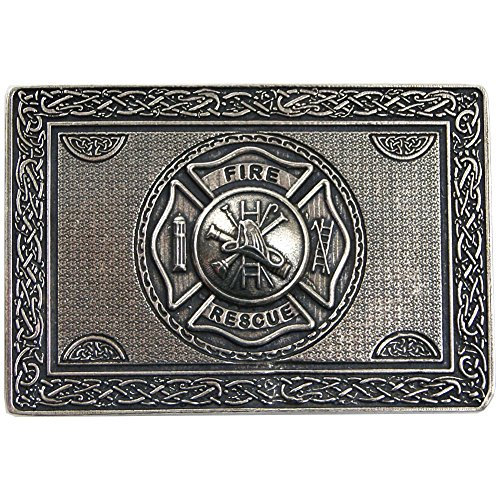 USA Kilts Men's Firefighter Kilt Belt Buckle Pewter