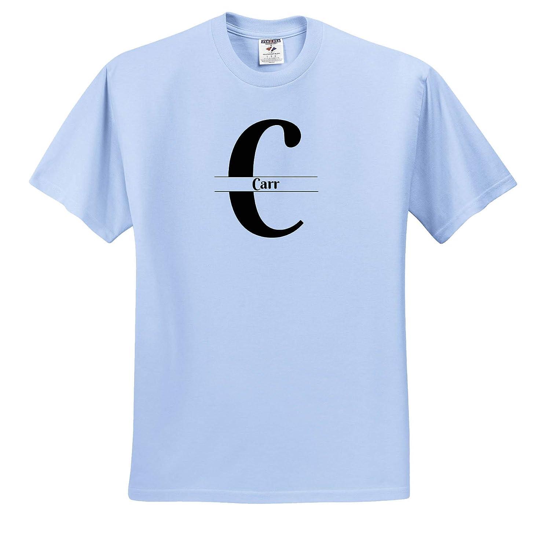 3dRose BrooklynMeme Monograms T-Shirts Bold Script Monogram C Carr